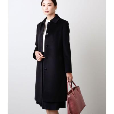 ニューヨーカー NEWYORKER My Dearest Coat/ウールシルクアンゴラビーバー ステンカラー コート (ブラック)
