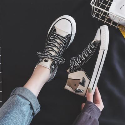 レディース スニーカー 男女兼用 個性 メンズシューズ レディースシューズ 靴 大人可愛い 歩きやすい 痛くない 美足