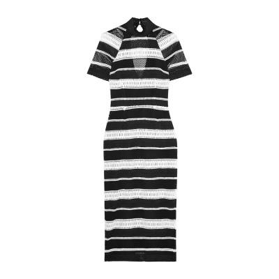 REBECCA VALLANCE 7分丈ワンピース・ドレス ブラック 4 ポリエステル 100% 7分丈ワンピース・ドレス