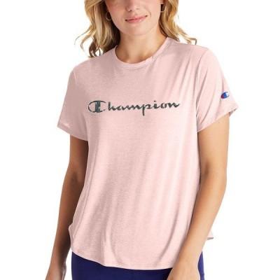 チャンピオン Tシャツ トップス レディース Women's Double Dry T-Shirt Hush Pink