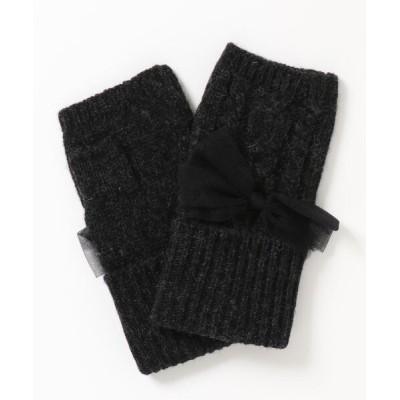 U.Q / 縄編みチュールリボン手袋 WOMEN ファッション雑貨 > 手袋