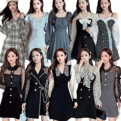 NEW !!! 秋冬新作追加ワンピース高品質ドレス洋服シフォンワンピース セクシーワンピースドレス