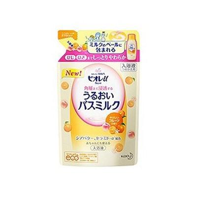 花王 Biore u(ビオレユー) 角層まで浸透する バスミルク フルーツの香り つめかえ用 480ml 〔入浴剤〕