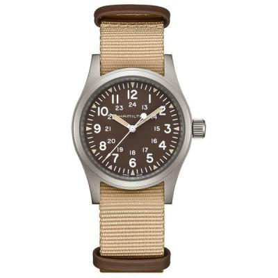 ハミルトン 腕時計 アクセサリー レディース Unisex Swiss Mechanical Khaki Field Beige Fabric Strap Watch 38mm Beige