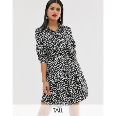 ブレイブソウル レディース ワンピース トップス Brave Soul Tall alenia shirt dress in animal print