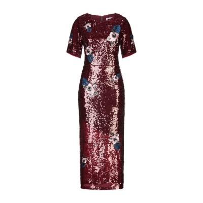 PAPERLACE London 7分丈ワンピース・ドレス ボルドー 10 ポリエステル 100% 7分丈ワンピース・ドレス