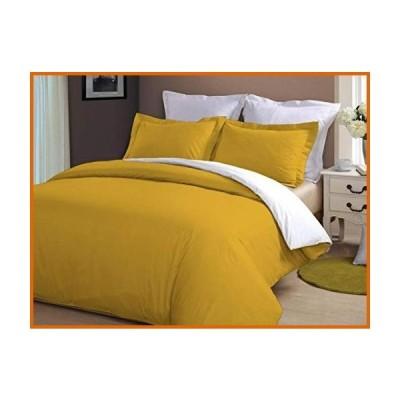 送料無料 Cotton Magneto Reversible Duvet Cover with Zipper & Corner Ties 100% Egyptian Cotton 800 Thread Count Premium Two Tone Bedding(