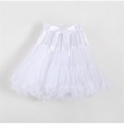 二枚送料無料/大人用レディースパニエ スカート ロリータコスチューム ボリューム メッシュ パニエスカートドレスインナー 軽い ホワイト