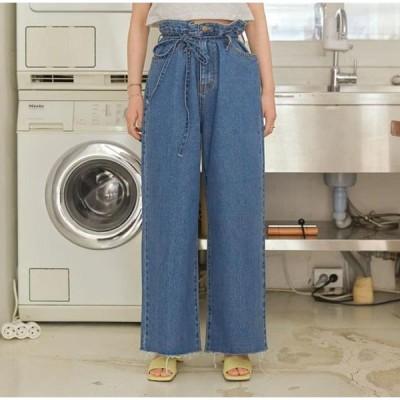 common unique レディース ジーンズ Loose Fit Denim Pants