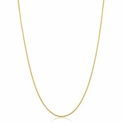 14k Yellow Gold Filled Round Wheat Chain Pendant Necklace (0.8 mm, 16 inch)