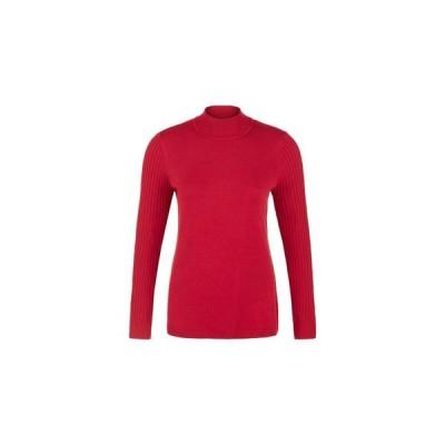 トリバル レディース ニット・セーター アウター Long Sleeve Mock Neck Sweater
