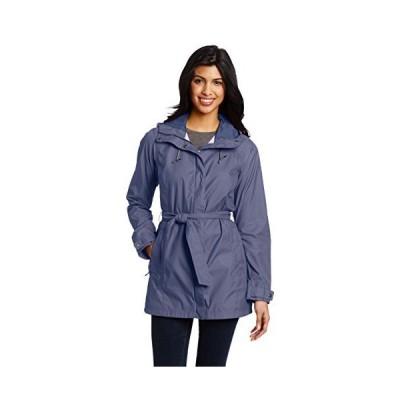 Columbia Women's Pardon My Trench Rain Jacket, Nocturnal, Medium