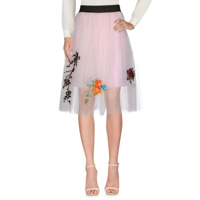 5 PROGRESS 7分丈スカート ライトピンク 42 ナイロン 100% 7分丈スカート
