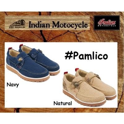 インディアンモーターサイクル 26cm  スニーカー   品番  Pamlico  / IND-11516  Beige / navy   INDIANMOTOCYCLE