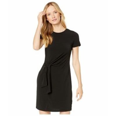 マイケルコース レディース ワンピース トップス Solid Short Sleeve Tie Twist Dress Black