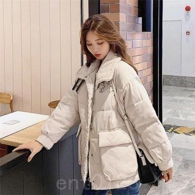 ダウンコートレディースコートショットゆったりダウンジャケット韓国風オシャレ上品秋冬5色軽量20代30代40代50代