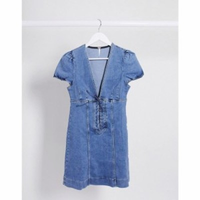 フリーピープル Free People レディース ワンピース ミニ丈 ワンピース・ドレス Something Sweet Mini Dress in blue ブルー