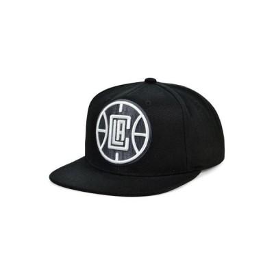 ミッチェル&ネス メンズ 帽子 アクセサリー Los Angeles Clippers XL Black Dub Snapback Cap