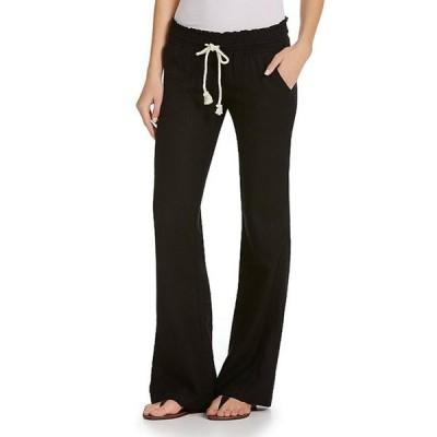 ロキシー レディース カジュアルパンツ ボトムス Oceanside Linen-Blend Wide Leg Pants