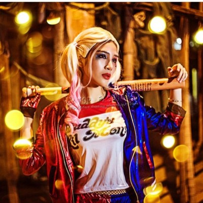 スーサイド・スクワッド Suicide Squad ハーレイ・クイン ハロウィン衣装 5点セット コスプレ コスチューム 仮装 ハロウィン 大人用 女性