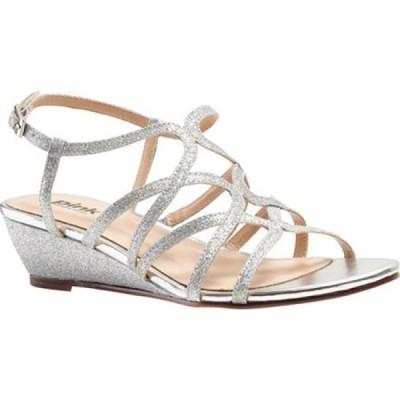 ピンクパラドックスロンドン Pink Paradox London レディース サンダル・ミュール ウェッジソール シューズ・靴 Opulent Wedge Sandal Silver Glitter