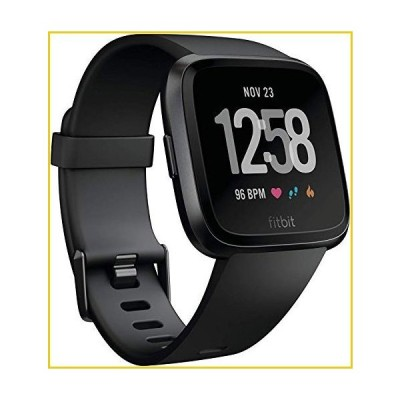 Fitbit Versa Smart Watch, Black/Black Aluminium, One Size (S & L Bands Included)並行輸入品