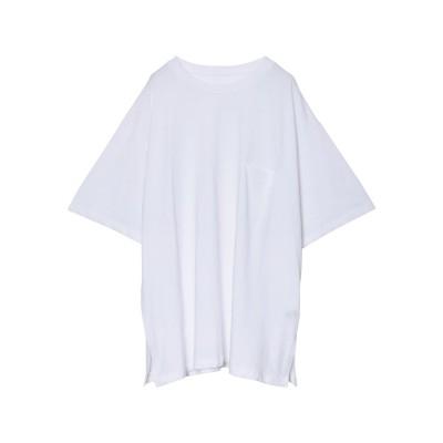 リエディ Re:EDIT オーバーサイズ半袖カットソー (ホワイト)
