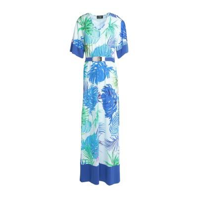 CLIPS ロングワンピース&ドレス ブルー 44 レーヨン 95% / ポリウレタン 5% ロングワンピース&ドレス