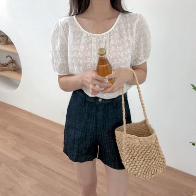 パンチングローズシャーリングブラウス いよいよQOO10入店!大人気韓国女性ファッションブランド「REALCOCO」入店イベ
