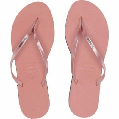 ハワイアナス Havaianas レディース ビーチサンダル シューズ・靴 You Metallic Flip Flops Rose Nude