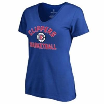 Fanatics Branded ファナティクス ブランド スポーツ用品  LA Clippers Womens Royal Overtime T-Shirt