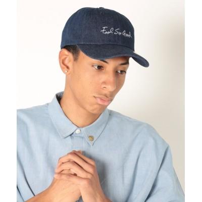 StPT / 【Fool So Good/フール ソー グッド】Script Logo Denim Low Cap MEN 帽子 > キャップ
