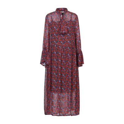 GESTUZ 7分丈ワンピース・ドレス パープル 34 レーヨン 100% / ポリエステル 7分丈ワンピース・ドレス