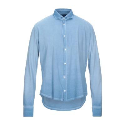 ブルックスフィールド BROOKSFIELD シャツ アジュールブルー 50 コットン 100% シャツ