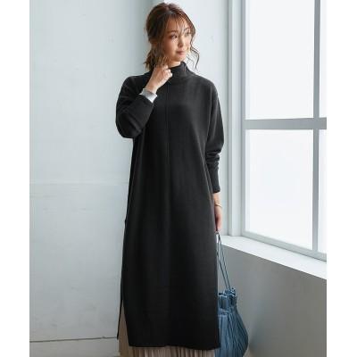 【ちくちくしにくい】ハイネックニットワンピース (ワンピース)Dress