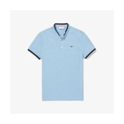 ラコステコントラストマオカラーデザインポロシャツ (半袖)【お取り寄せ商品】