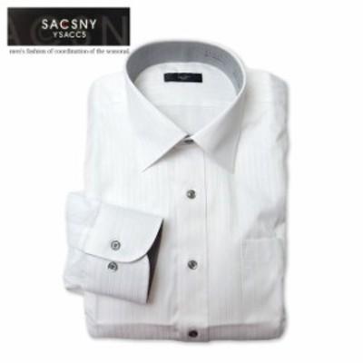 メンズ ワイシャツ 長袖 SACSNY Y'SACCS サクスニーイザック 形態安定 レギュラーカラー ビジネスシャツ Yシャツ 紳士