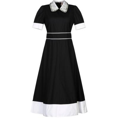 ヌメロ ヴェントゥーノ N°21 7分丈ワンピース・ドレス ブラック 40 コットン 100% 7分丈ワンピース・ドレス