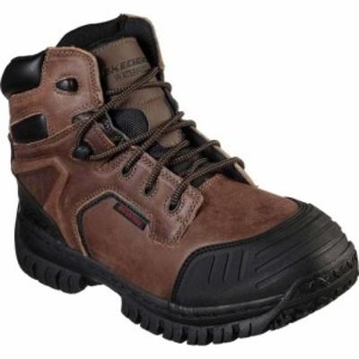 スケッチャーズ Skechers メンズ ブーツ シューズ・靴 Work Hartan Caledon Waterproof Boot Dark Brown