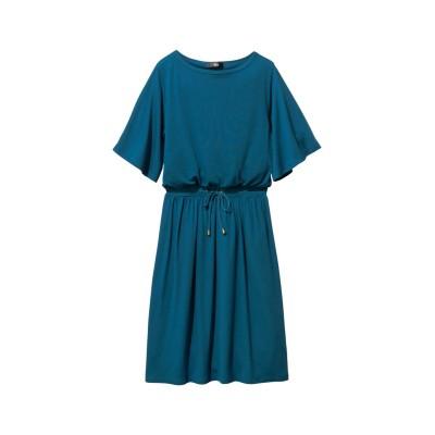 大きいサイズ UVカット5分袖カットソーワンピース ,スマイルランド, ワンピース, plus size dress