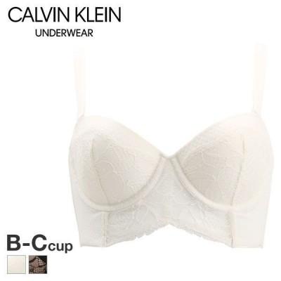 66%OFF (カルバン・クライン アンダーウェア)Calvin Klein Underwear CK BLACK ROSE LACE ハーフカップ ブラジャー 単品 脇高 脇肉