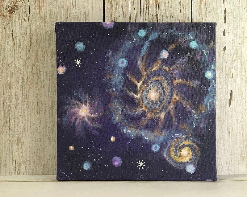 宇宙#9 壓克力畫 療癒生活 快速出貨 無框畫 居家裝飾 藝術作品