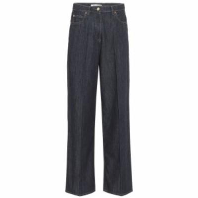 ヴァレンティノ Valentino レディース ジーンズ・デニム ボトムス・パンツ High-rise wide-leg jeans Blue