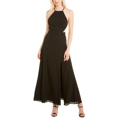 フェームアンドパートナー ワンピース トップス レディース Fame and Partners Maxi Dress black
