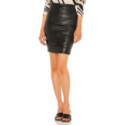 ブロシュウウォーカー Brochu Walker レディース ひざ丈スカート ペンシルスカート スカート Gina Ruched Pencil Skirt Black Onyx