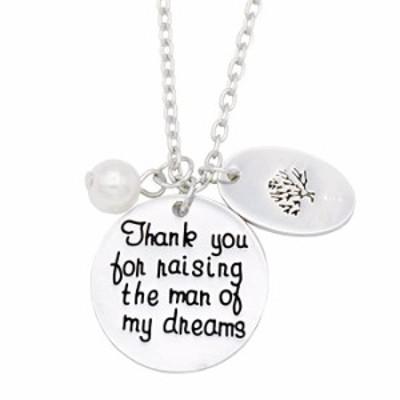 ネックレス O Riya Thank You For Raising The Man of My Dreams WithファミリーツリーChramsペンダントネックレスセット