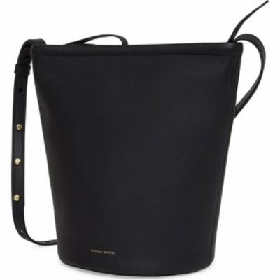 マンサーガブリエル MANSUR GAVRIEL レディース バッグ バケットバッグ Leather Zip Bucket Bag Black