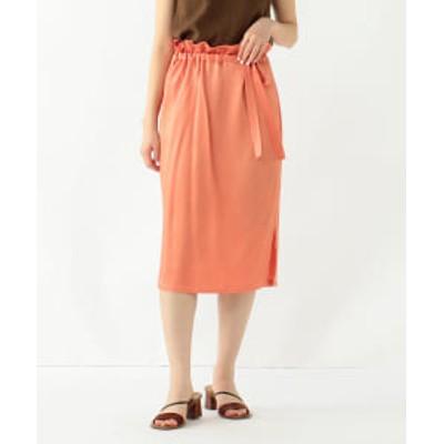 【アウトレット】Demi-Luxe BEAMS / サテン ウエストリボン タイトスカート