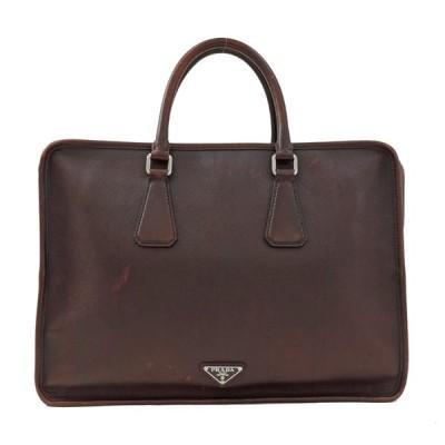 プラダ ビジネスバッグ サフィアーノ VA1026 ブラウン PRADA