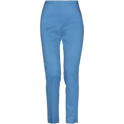 CARLA MONTANARINI パンツ アジュールブルー 42 コットン 97% / ポリウレタン 3% パンツ